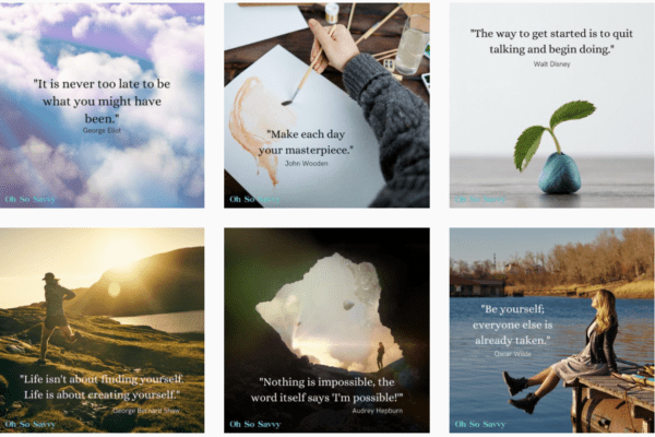 Examples of motivational posts